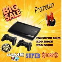 PS3 PS 3 PLAYSTATION 3 SONY SLIM + 2STIK WIRLES HDD
