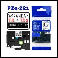 PROMO PZE-221 PANDA LABEL TAPE (TZE-221 BROTHER PRINTER 9MM BLACK ON