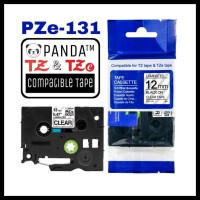 PROMO PZE-131 PANDA LABEL TAPE (TZE-131 BROTHER TAPES 12MM BLACK ON