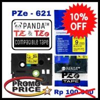 PROMO PZE-621 PANDA LABEL TAPES(TZE-621 BROTHER PRINTER 9MM BLACK ON