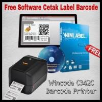 PROMO BARCODE LABEL PRINTER WINCODE C342C SEKELAS ZEBRA 820-HONEYWELL