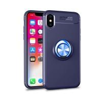 VOUNI iphone X case TPU Braket cincin logam magnetik soft shell ponsel