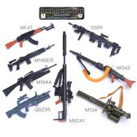Mokit miniatur senjata 1/6 kitbash batch 2 & 3