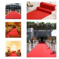 [Import] ☁HL Karpet Lantai Ukuran Besar 1x5m Warna Merah Putih untuk