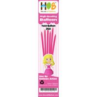 Balon Twist Pentil Latex Lateks Latex Hot Pink Fuschia 10pcs