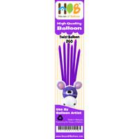 Balon Twist Pentil Latex Lateks Latex Purple Ungu 10pcs