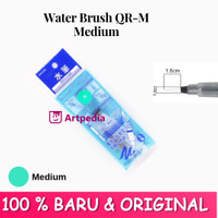 Water Brush QR-M Medium (Hijau) - water brush /Kuas Cat air