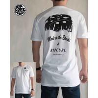 Baju kaos Tshirt Distro Surfing RipCurl 1 - Putih, L