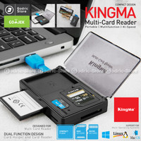KINGMA Multi Card Reader USB 3.0 SD CF TF 90MB/S (+3 Slot Penyimpanan)