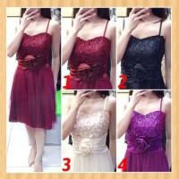 baju anak 14-22thn perempuan mini dress pesta gaun natal maxi black