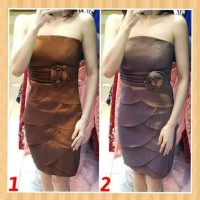 baju anak 12-17thn perempuan mini dress gaun pesta natal silver-maroon