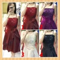 baju anak 13-20thn perempuan gaun pesta natal party dress maxi hitam
