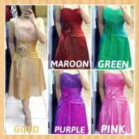 baju dress anak 16-24thn perempuan gaun party pesta natal maxi pink