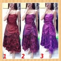 baju anak 12-19thn perempuan gaun pesta natal maxi dress bright-purple