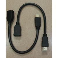 Kabel HDMI Extension Extender HDMI Male To Female Antara 20 cm - 35cm