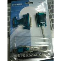 Converter USB To Serial DB-9 RS232 With DB-25 Male
