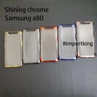 Samsung A80 SHINING CHROME TPU CASE CLEAR Silicone Case