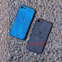Iphone 7 JEANS CANVAS DEER MOTIF CASE
