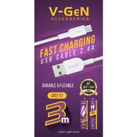 Kabel Data MicroUSB V-GeN CM3-01 Fast Charging Kabel VGEN 3 Meter