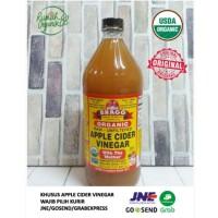 Organic Apple Cider Vinegar 946ml By Bragg (Cuka Apel Bragg)