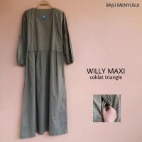 Baju Hamil Gamis Baju Muslim Dress Hamil Dan Menyusui Katun Willy Maks