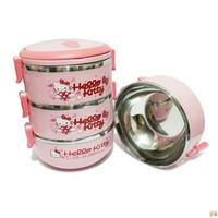 AY Rantang 3 Susun Hello Kitty Lunch Box