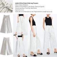 White Stripe Wide Leg Trousers (size S,M,L) -26680