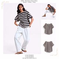 Black Basic Stripe (S,M,L) Blouse -49982
