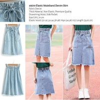 Elastic Waistband Denim Skirt (size S,M,L) -26670