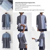 Blue Multi Stripe Irregular Shirt (size S,M,L) -26695