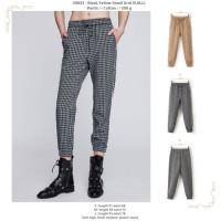 Black,Yellow Small Grid (S,M,L) Pants -49833