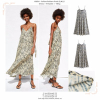 Yellow Pattern Print (S,M,L) Dress -49954