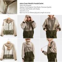 Green Metallic Hooded Jacket (size S,M,L) -26622