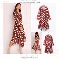 Red Big White Dot (S,M,L) Dress -50004
