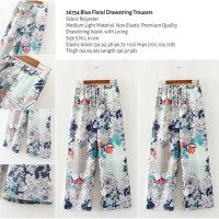 Blue Floral Drawstring Trousers (size S,M,L) -26754