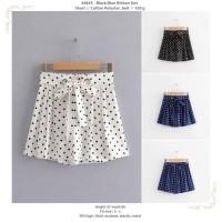 White,Black,Blue Ribbon Dot Short -49845