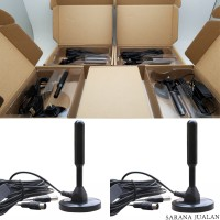 Portable Magnet Antena TV Turner Real 30dBi with Booster (Usb Power)