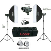 Paket Lampu Studio Flash Godox DE300