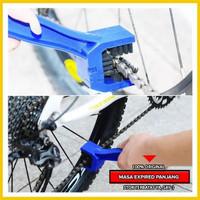 Sikat Pembersih Rantai Motor Sikat Rantai Sepeda U Shape Biru Murah