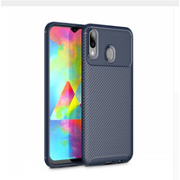 Softcase Autofocus Carbon Soft Case Cover Casing Samsung Galaxy M20