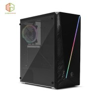 CASE PC CUBE GAMING CLEMENTY - Tempered Glass, 1x Rainbow RGB LED Fan