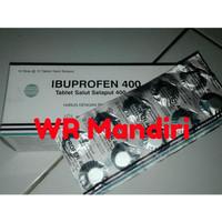 HARGA 1 STRIP 10 TABLET Ibuprofen 400mg