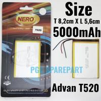 Baterai NERO Original OEM 100% Advan T520 Size 8.2cm X 5.6cm - Batre