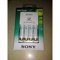 SONY Power Charger + 4 pcs baterai AA NiMH 2000 mAh BCG-34HH4KN A2