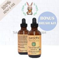 Pura D'OR Castor Oil 100% Pure USDA Organic for Body Hair Lash & Brow