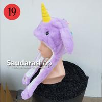 Topi Tiktok Bergerak + Led / Topi Tiktok Unicorn Tanduk Kuning led