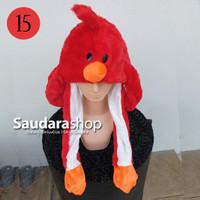Topi Tiktok Bergerak + Led / Topi Tiktok Lampu / Topi Bebek Merah