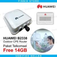 Huawei B2338-168 Wireless Outdoor CPE Router 4G LTE Free 14GB 2Bulan