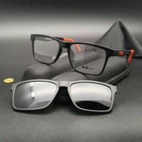 Frame Kacamata Oakley Clip on 8008 Sporty Pria Wanita Minus Plus Baca