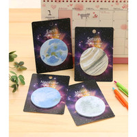 Sticky Notes / Post-It / Memo Stick Motif Planet dan Bulan (20 Lembar)